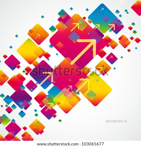 Abstract digital art background with arrows.