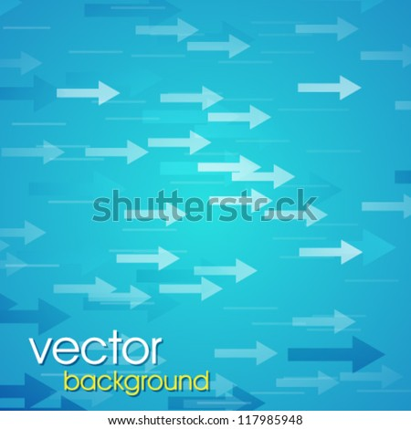 Abstract digital art background with arrows. - stock vector