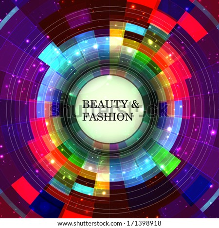 "Abstract digital background design with vibrant stylish color concept. Ideal for ""Beauty & Fashion"" concept or ""Technology & Business"" concept works."