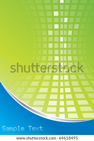 Abstract digital background in editable vector format - stock vector