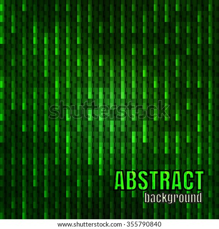 Abstract digital background with green neon glow, vector eps10