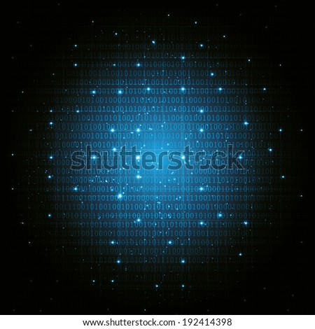 abstract digital binary background blue. vector eps10 - stock vector