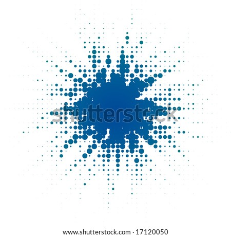 abstract digital blob (dotted design series) - stock vector
