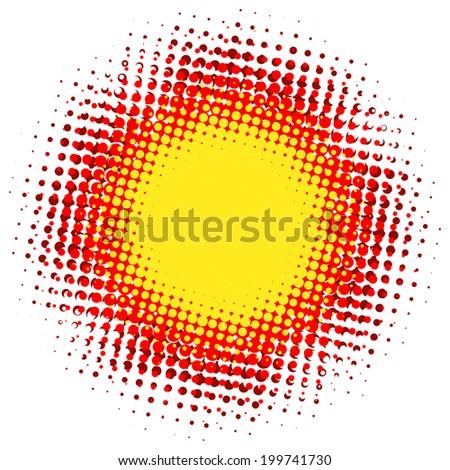 Abstract digital blob halftone flash. plus EPS10 - stock vector