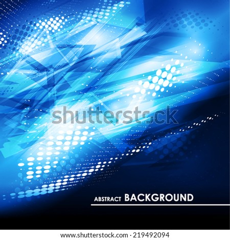 Abstract digital blue background. Vector