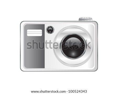 abstract digital camera icon vector illustration