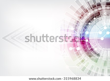 Abstract digital communication technology background. Vector illustration - stock vector