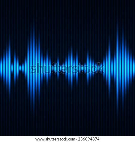 Abstract digital equalizer. Abstract waveform background. Vector illustration - stock vector