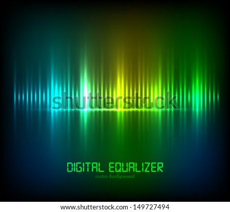 Abstract Digital Equalizer. Vector illustration.