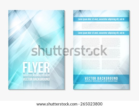 Abstract digital geometric modern blue and grey color backgrounds. Back and front flyer. Cover design template layout for corporate business book, booklet, brochure, poster. Vector