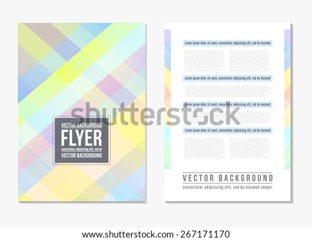 Abstract digital geometric modern soft color backgrounds. Back and front flyer template. Cover design template layout for corporate business book, booklet, brochure, poster and other. Vector - stock vector