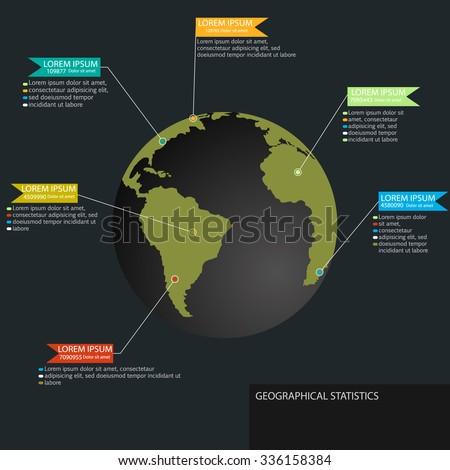 Vector Modern Infographics Global Template 6 Stock Vector ...