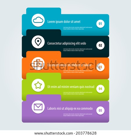 Abstract digital illustration Infographic. Vector illustration can be used for workflow layout, diagram, number options, web design. Eps 10. - stock vector