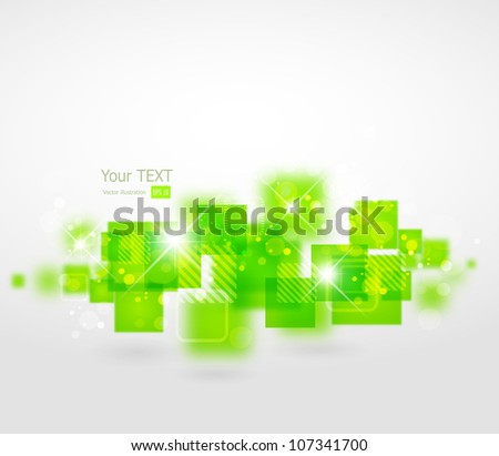 Abstract digital light background - stock vector