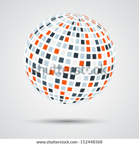 Abstract digital sphere (concept of global network)