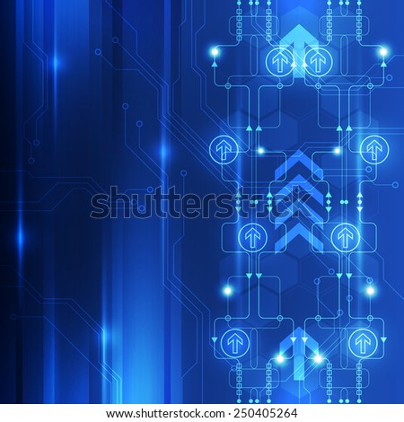 Abstract digital technology concept background, vector illustration - stock vector