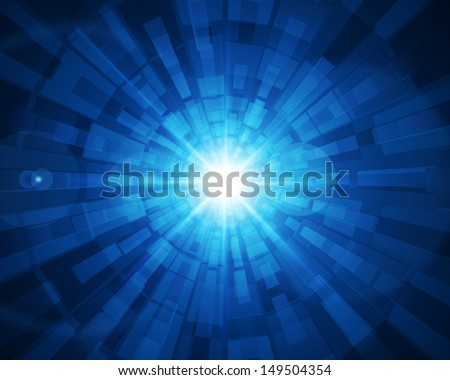 Abstract digital technology lines and light vector background.  - stock vector