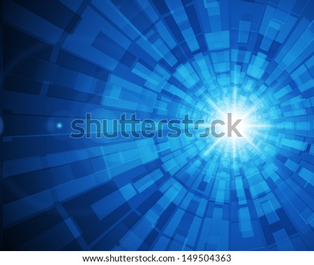 Abstract digital technology lines and light vector background.