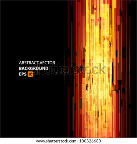 Abstract digital technology lines move up background eps 10 - stock vector