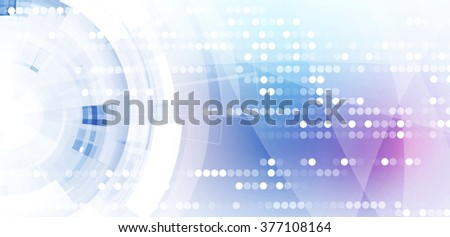 Abstract digital web site header. Banner technology background