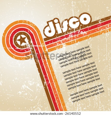 abstract disco background - vector. - stock vector