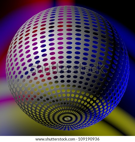 abstract disco ball
