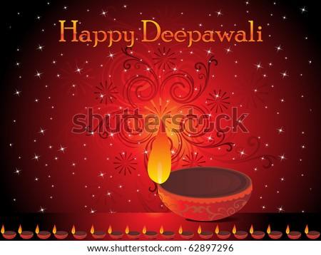 abstract diwali celebration background, vector illustration - stock vector