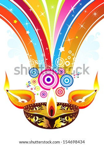 abstract diwali explode background vector illustration - stock vector
