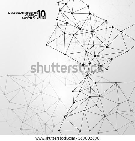 abstract dna background - stock vector