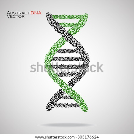 Abstract DNA. Colorful molecular structure. Vector illustration. Eps 10