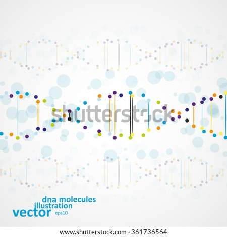 Abstract DNA, futuristic molecule, cell illustration eps10 - stock vector