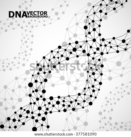 Abstract DNA spiral, molecule structure. Vector illustration. Eps 10
