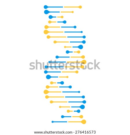 Simple Dna Strand Vector
