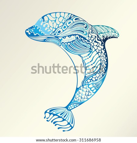 Abstract Dolphin - stock vector
