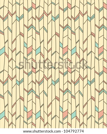 Abstract doodle seamless pattern #1 - stock vector