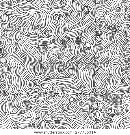 Abstract doodle vector seamless pattern.