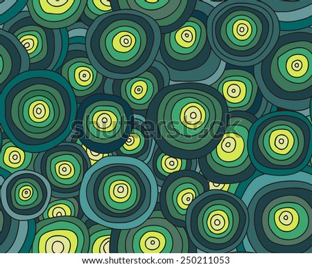abstract doodles circle background