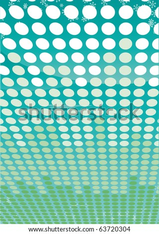 Abstract dot green background