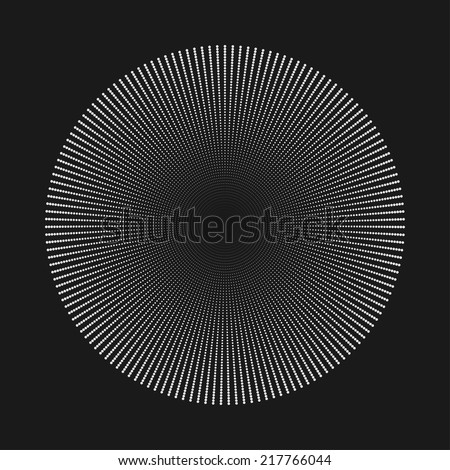 Abstract dot shape, vector design element - stock vector