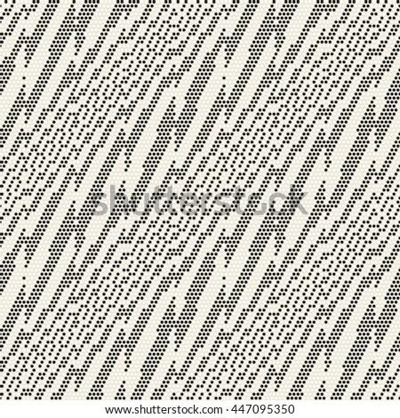 Abstract dot textured diagonal subtle striped motif. Seamless pattern. - stock vector