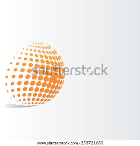 Abstract dots background for your text and logo - vector illustration latex  - stock vector