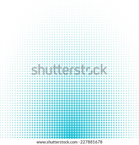 Abstract dotted background. Blue color - stock vector