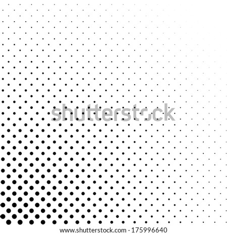 Abstract dotted background. Halftone concept - stock vector