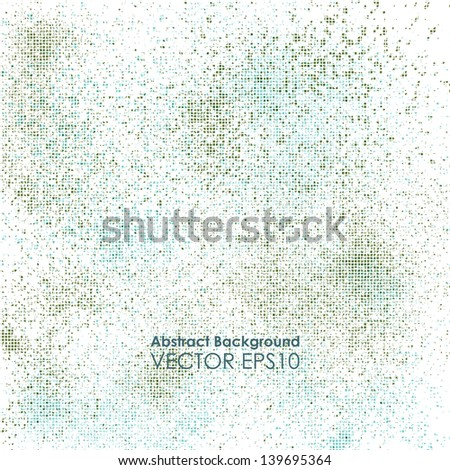 Abstract dotted background. Vector grunge pattern - stock vector