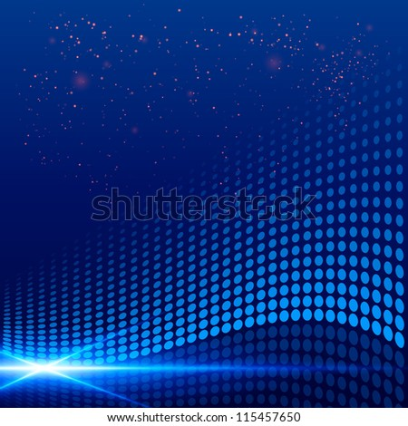 Abstract dotted background. Vector illustration. - stock vector