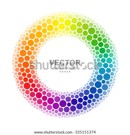 Abstract Dotted Color Wheel