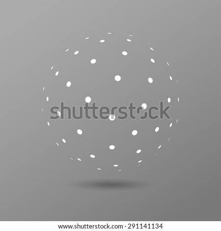 Abstract dotted 3d vector sphere - stock vector