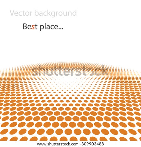 Abstract dotted vector background. Center of space concept - stock vector