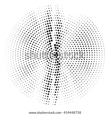 Abstract dotted vector background - Halftone effect - Ideal as halftone background design - Simple black and white color