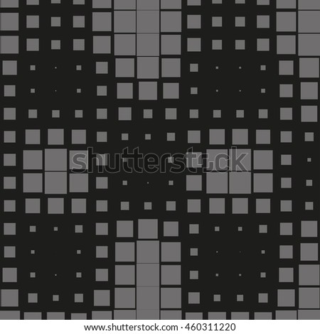 Abstract dotted vector background. Halftone effect. Squares pattern